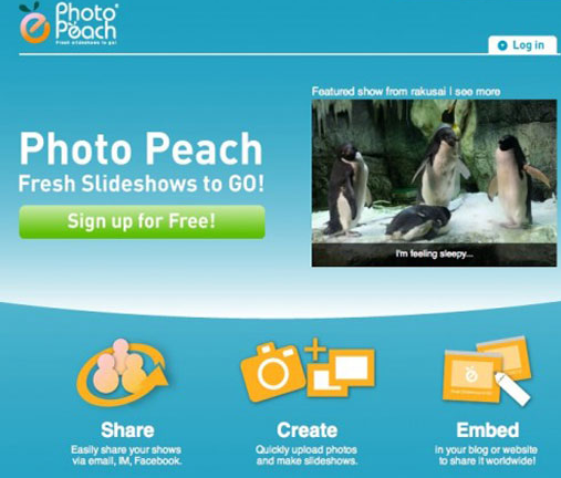 Photopeach slideshow